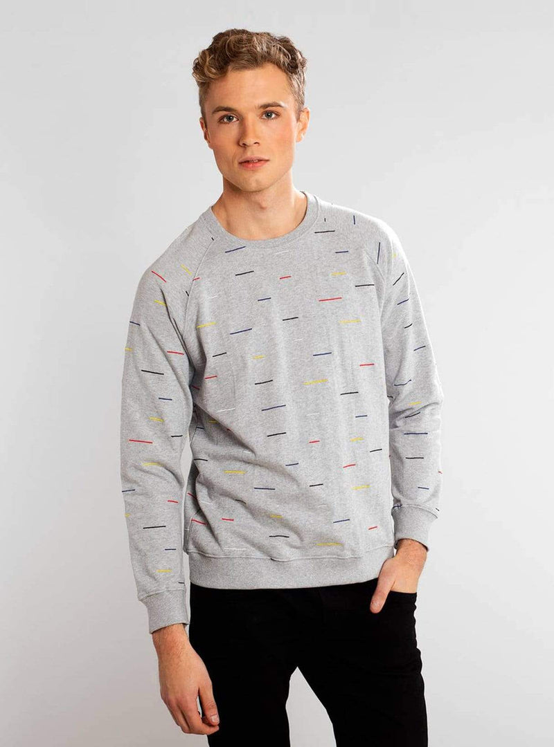 Dedicated sweater Malmoe color lines - sweatshirt - grey melange