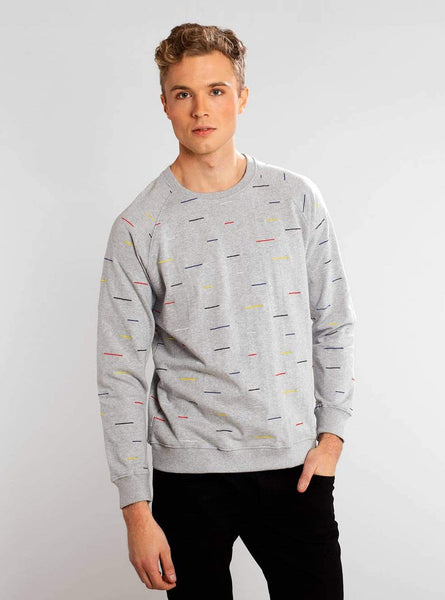 Malmoe color lines - sweatshirt - grey melange