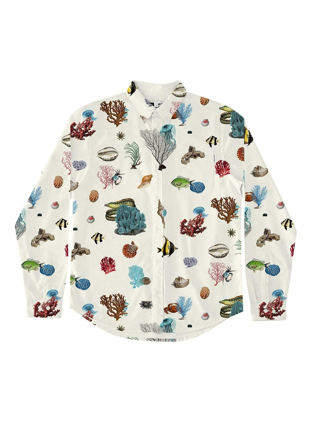 Shirt varberg coral reef - off-white