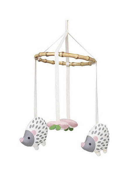 Fly hedgehog baby mobile - white