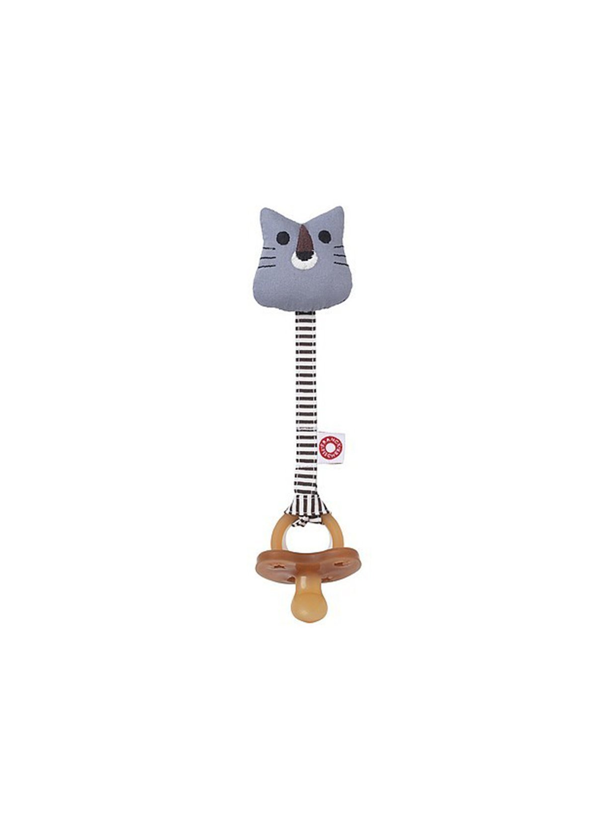 Tiger pacifier cord - grey