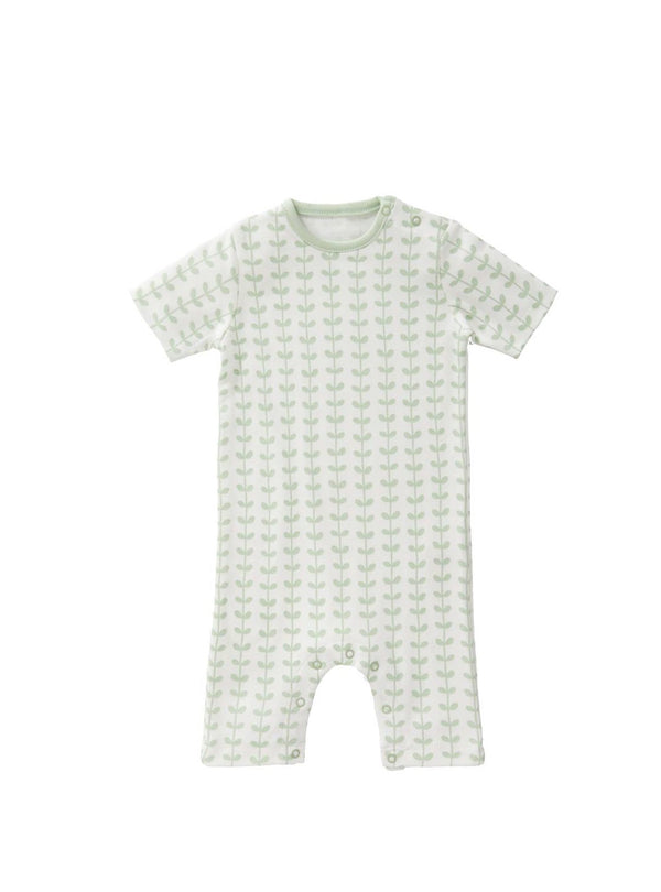 Fresk baby 3-6 months Leaves - short sleeve baby bodysuit - mint