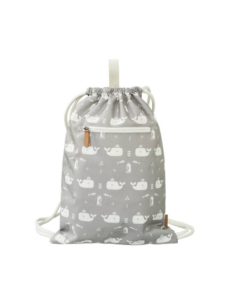 Whale - swimbag - dawn grey/white