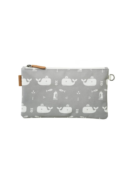 Whale - toilet bag - grey/white
