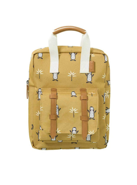 Backpack small pinguin - yellow/white
