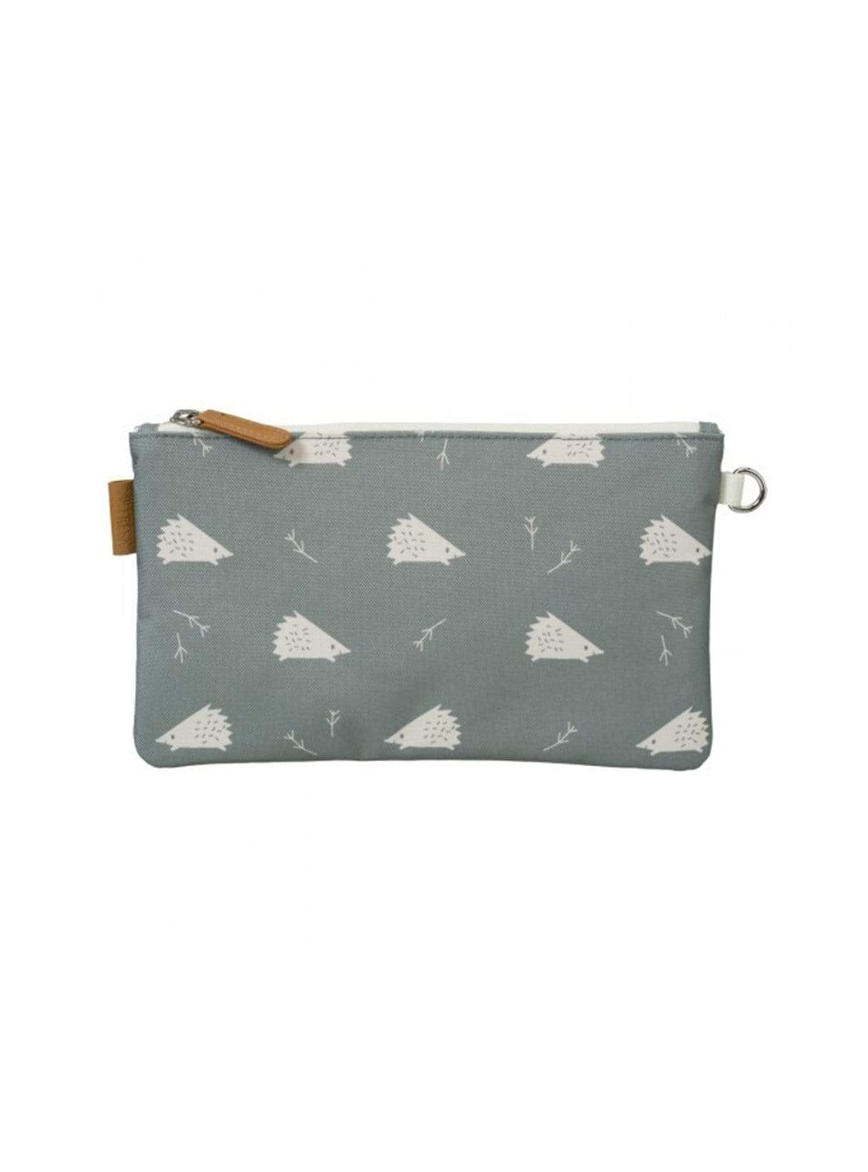 Hedgehog - toiletbag - blue green/white