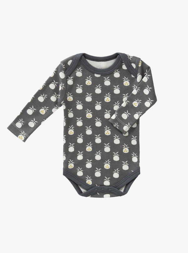 fresk Kids bodysuits Pineapple - long sleeve bodysuit - anthracite