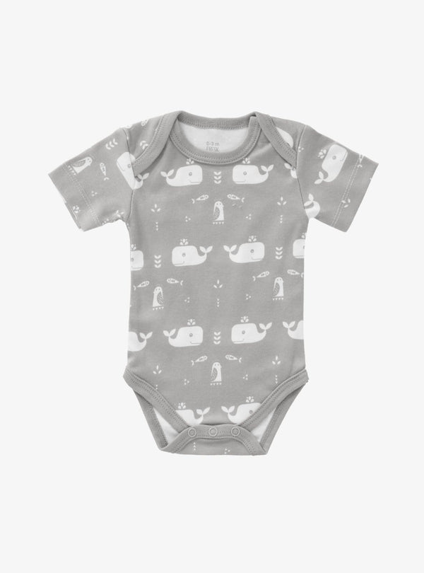 fresk Kids bodysuits Whale - short sleeve bodysuit - dawn grey