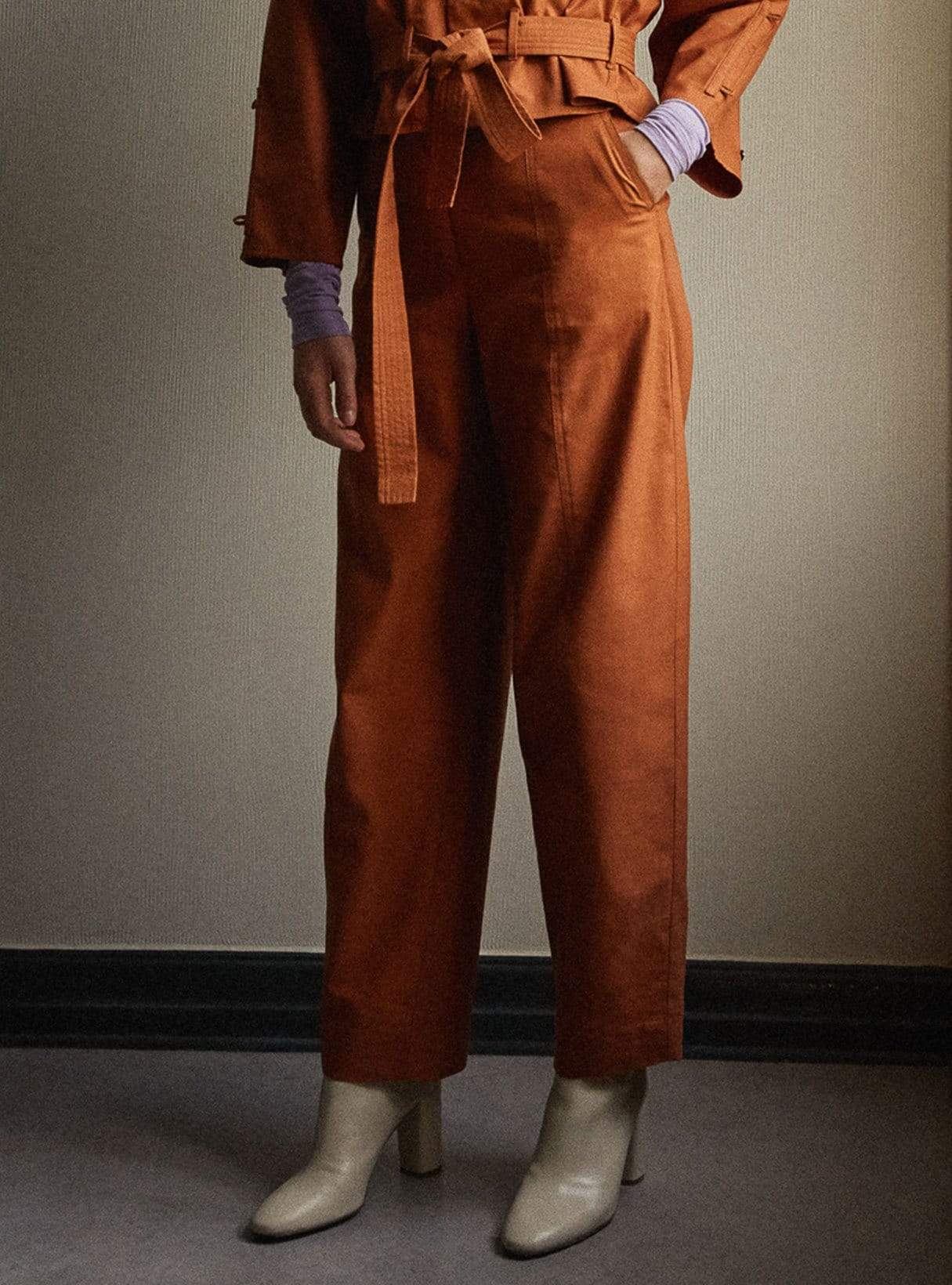Raisa - trousers - cognac