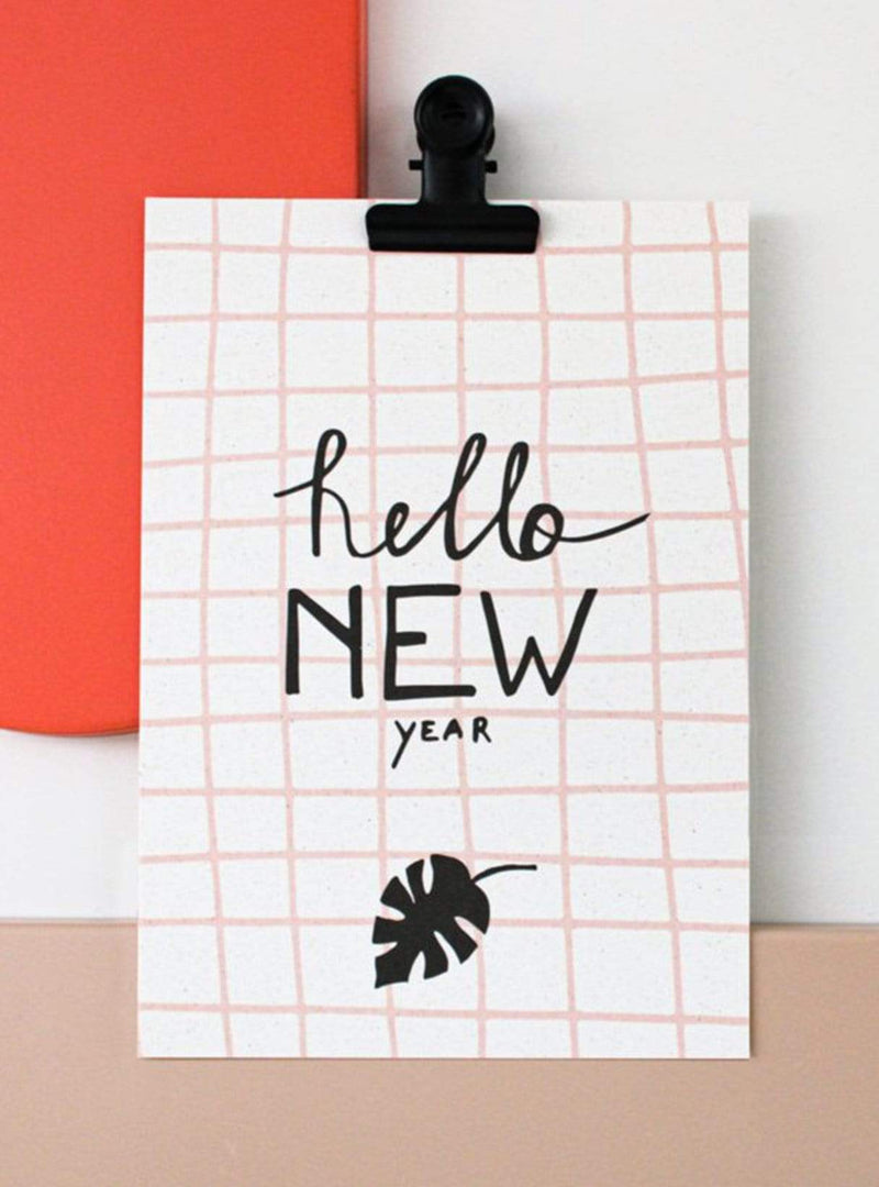 hello august Stationery Postcard - hello new year