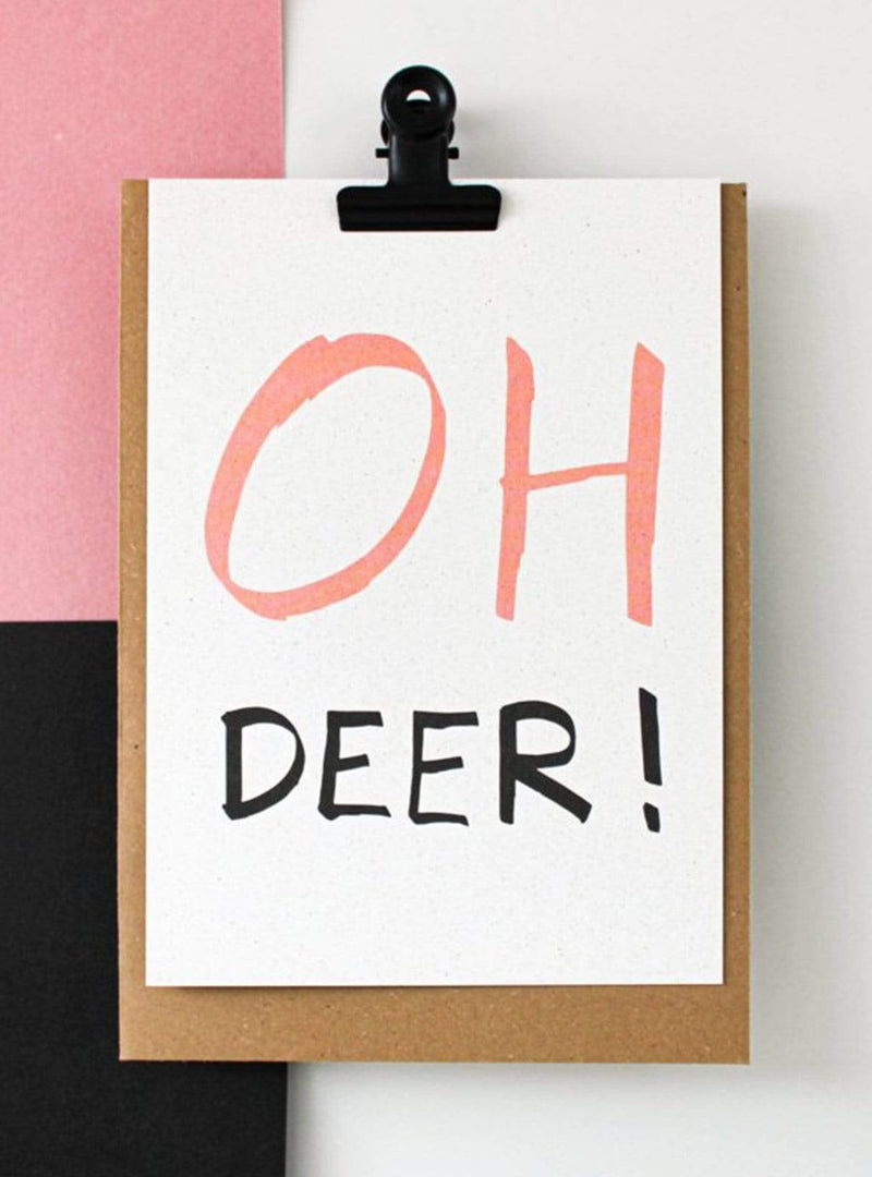 hello august Stationery Postcard - oh deer