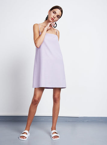 Slip dress capri - lilac