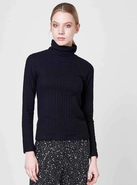 Mio - ripp turtleneck - black