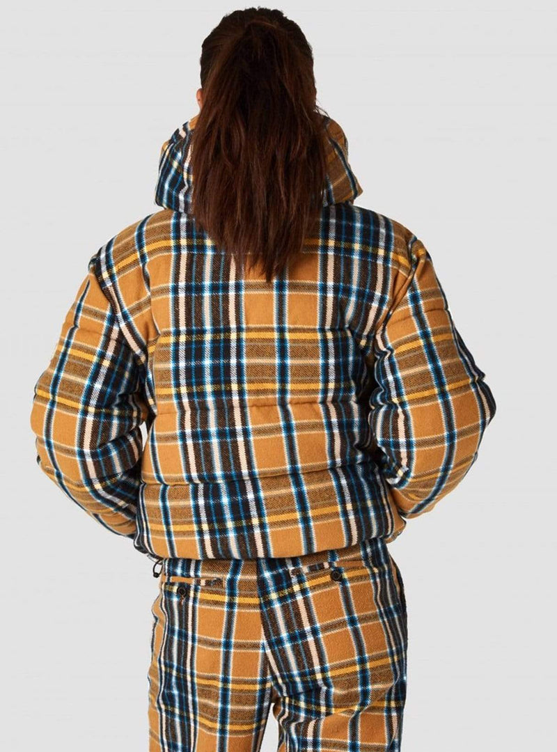 Kings of Indigo jacket Zhenga jacket - camel flannel check
