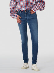 Juno high jeans - liberty marble blue