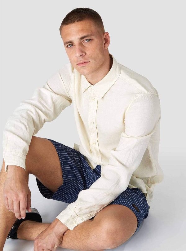 Kings of Indigo Mens shirts Enda - shirt - off white