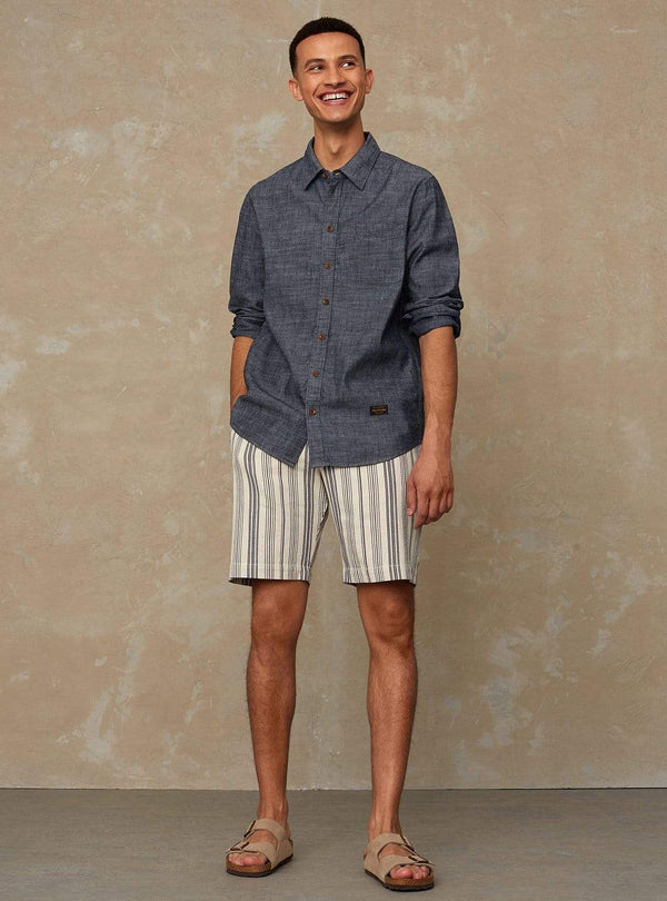kings of indigo Mens shorts Cronus - shorts - beige stripe
