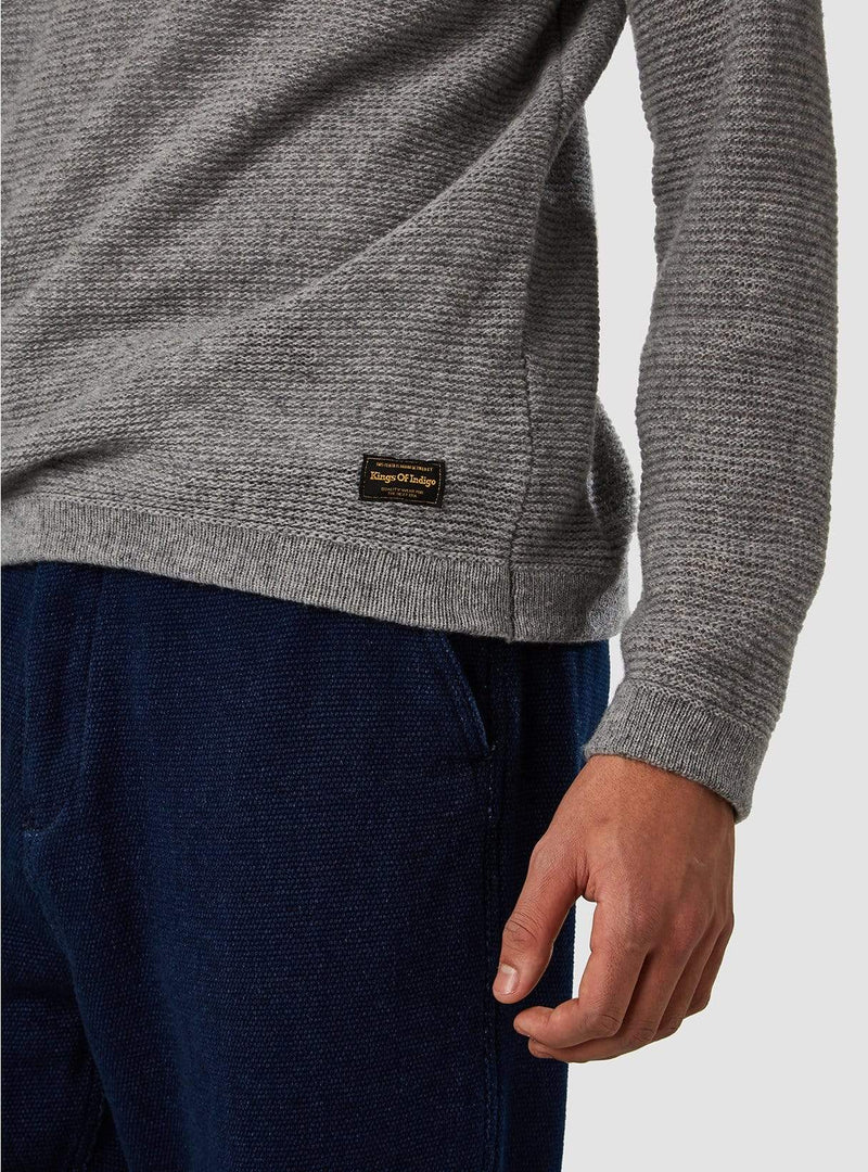 kings of indigo Mens sweaters Brian - sweater - light grey melee