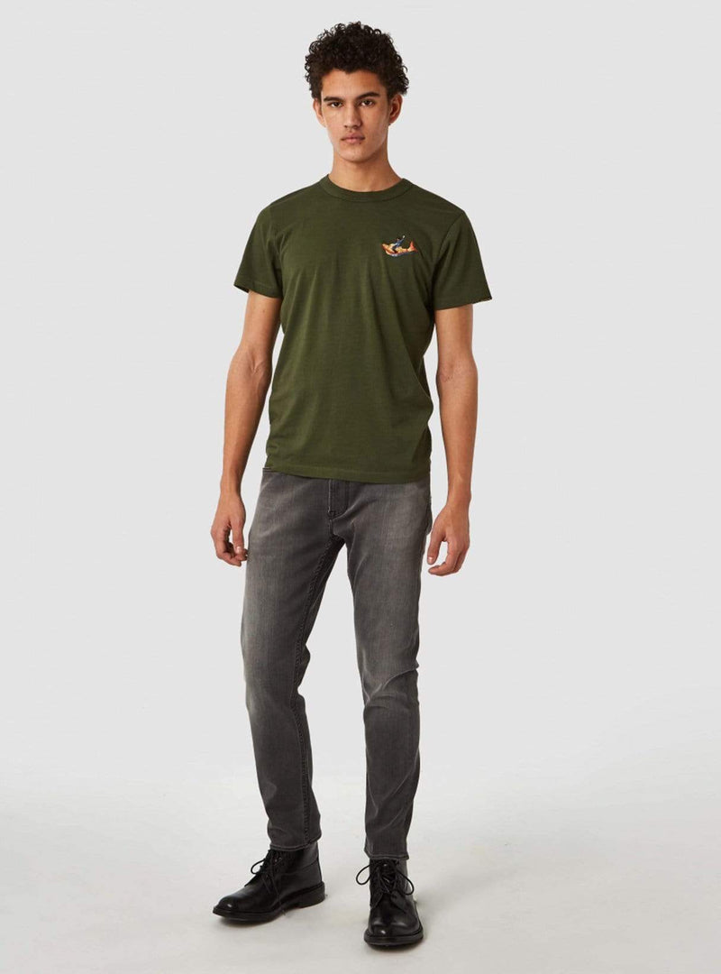kings of indigo Mens t-shirts Darius koiboy - t-shirt - military green