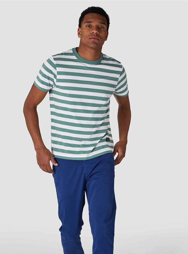 Darius - t-shirt - pear green stripe