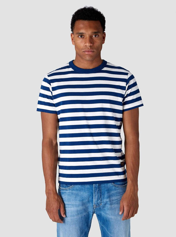 Kings of Indigo Mens t-shirts Darius - t-shirt - stripe navy