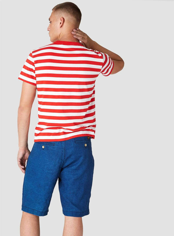 Kings of Indigo Mens t-shirts Darius - t-shirt - stripe red