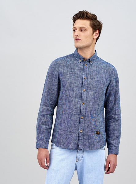 Enda - shirt - denim rinsed