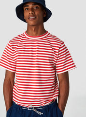 Darius - t-shirt - poppy red stripe
