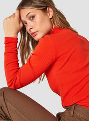 Jacobina long sleeve top - burnt orange