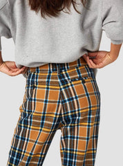 Daria trousers - camel flannel check