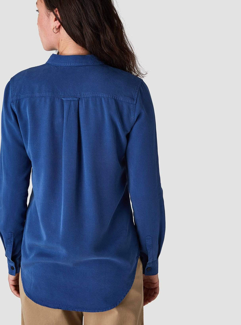 Taja - blouse - blue tencel