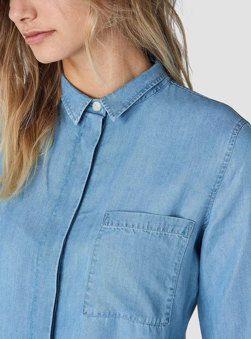 Kings of Indigo Womens blouses Taja - blouse - chambray tencel
