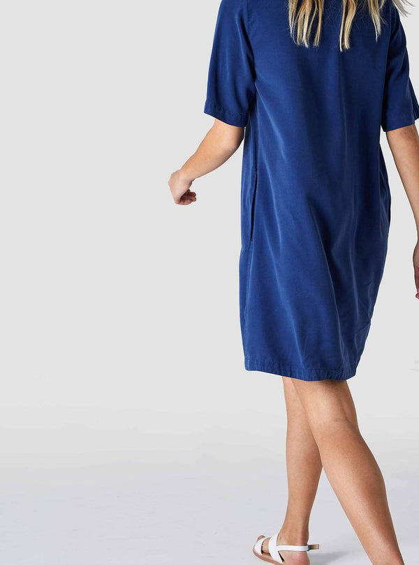 Kings of Indigo Womens dresses Ten - dress - blue tencel