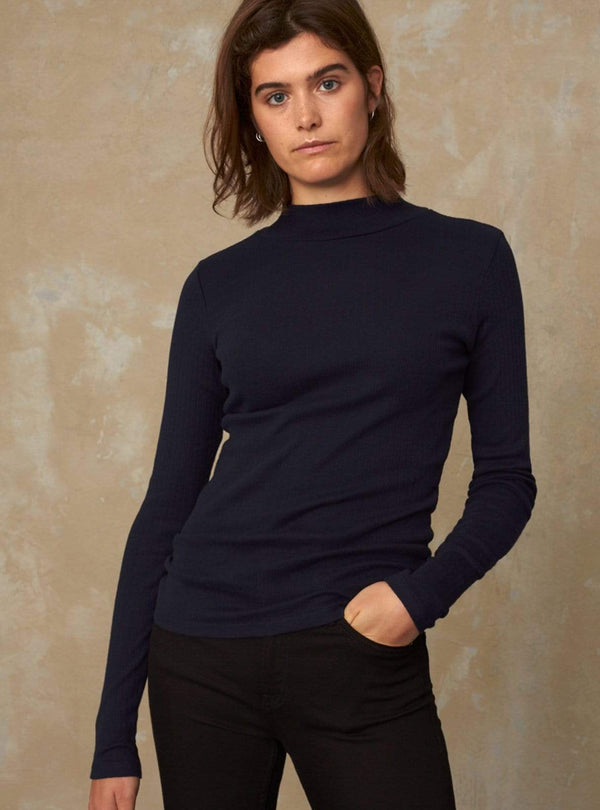 kings of indigo Womens jeans Jacobina - turtleneck - navy