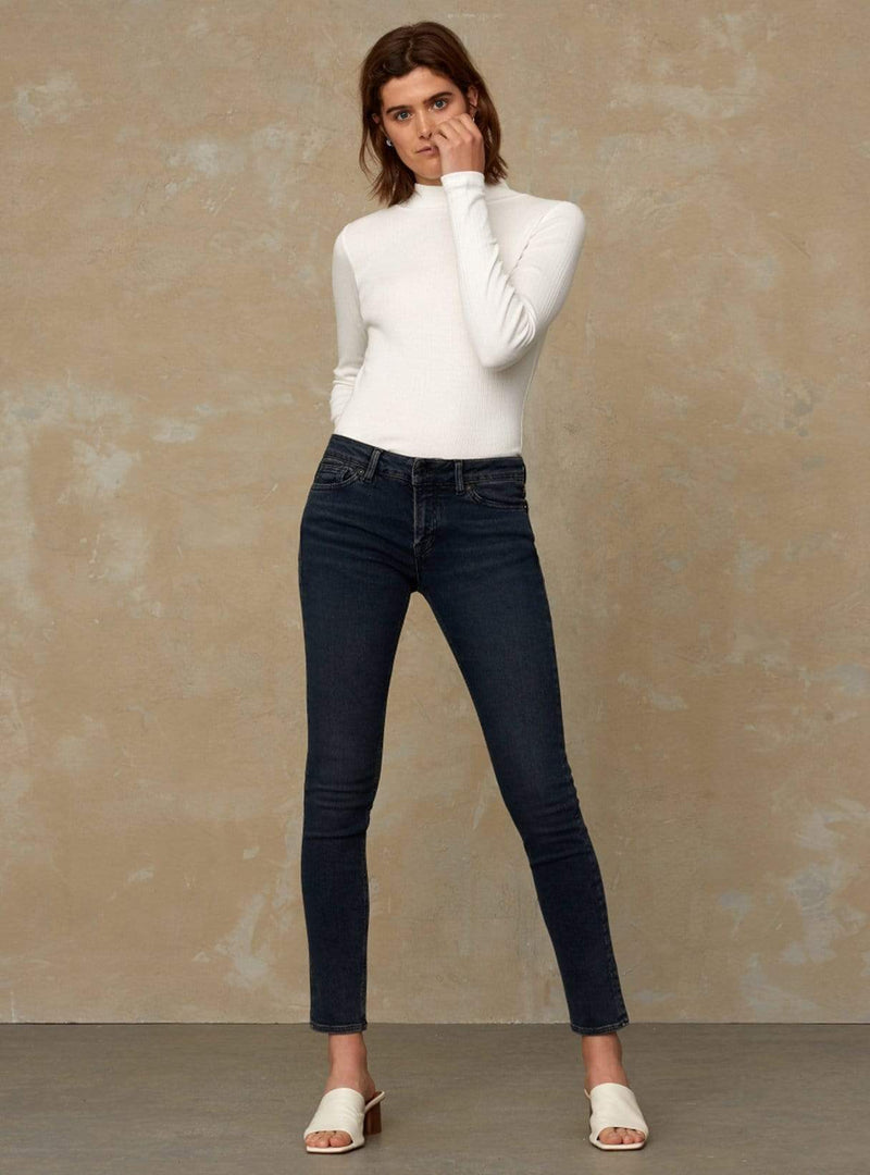 kings of indigo Womens jeans Jacobina - turtleneck - off white
