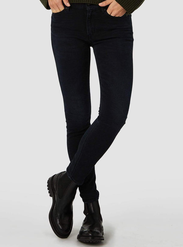Juno high - jeans - blue black worn