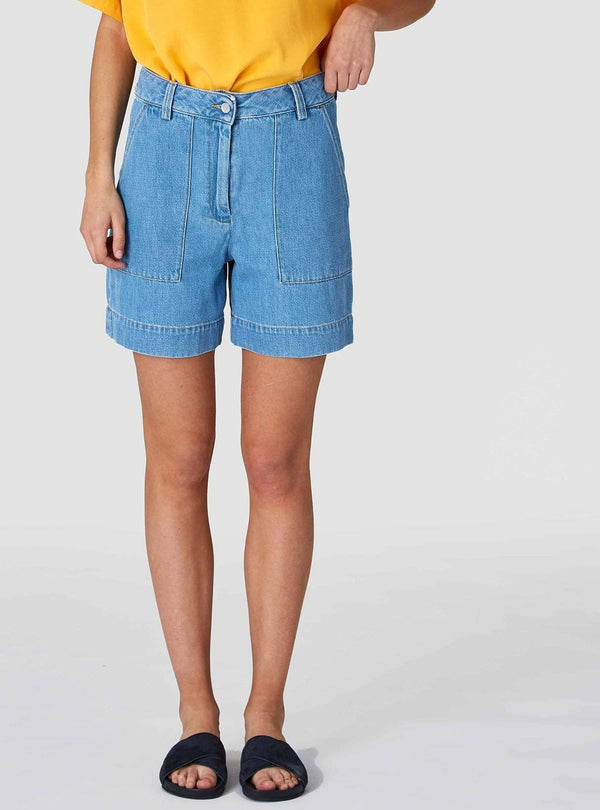 Kings of Indigo Womens shorts Bangja - denim shorts - light shade denim