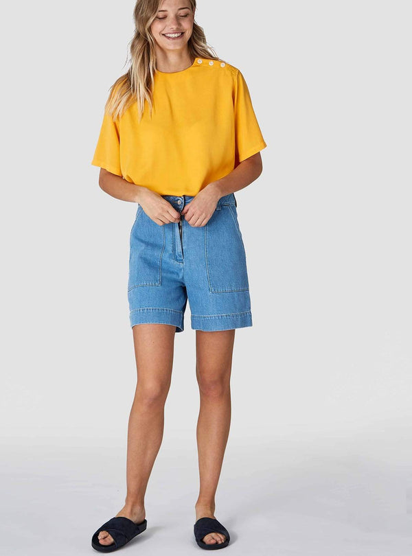 Bangja - denim shorts - light shade denim