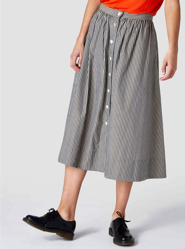 Kings of Indigo Womens skirts Benten - skirt - melange stripe