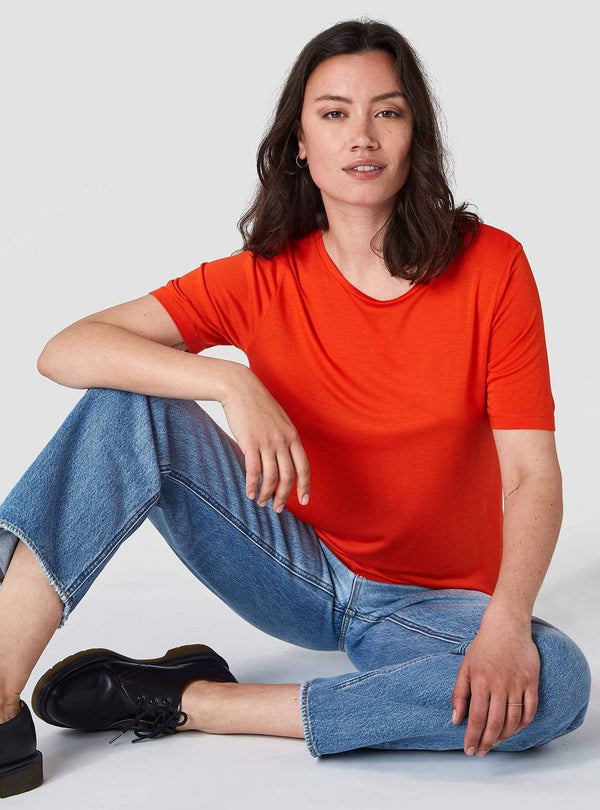 Kings of Indigo Womens tops Aji - top - burnt orange