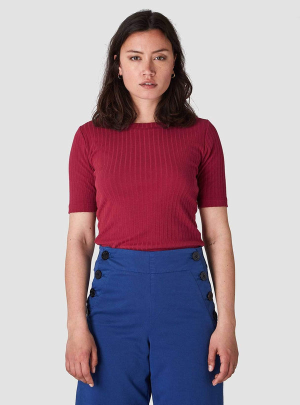 Kings of Indigo Womens tops Kuroda - top - cherry