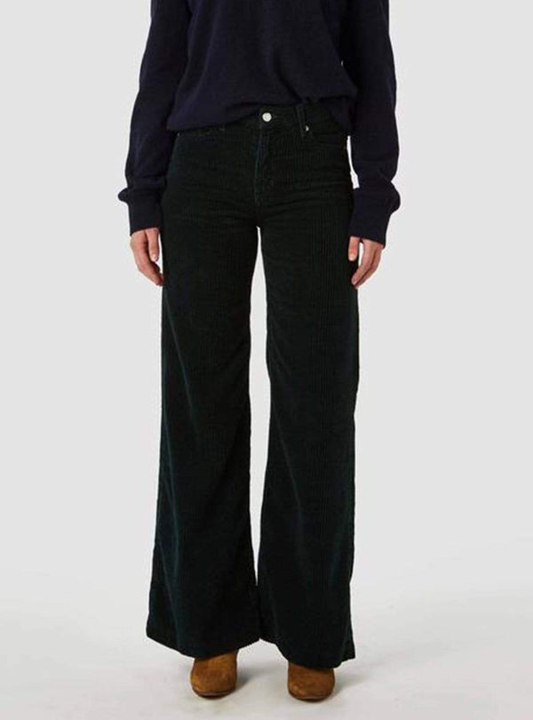 kings of indigo Womens trousers Jane - trousers - dark green corduroy