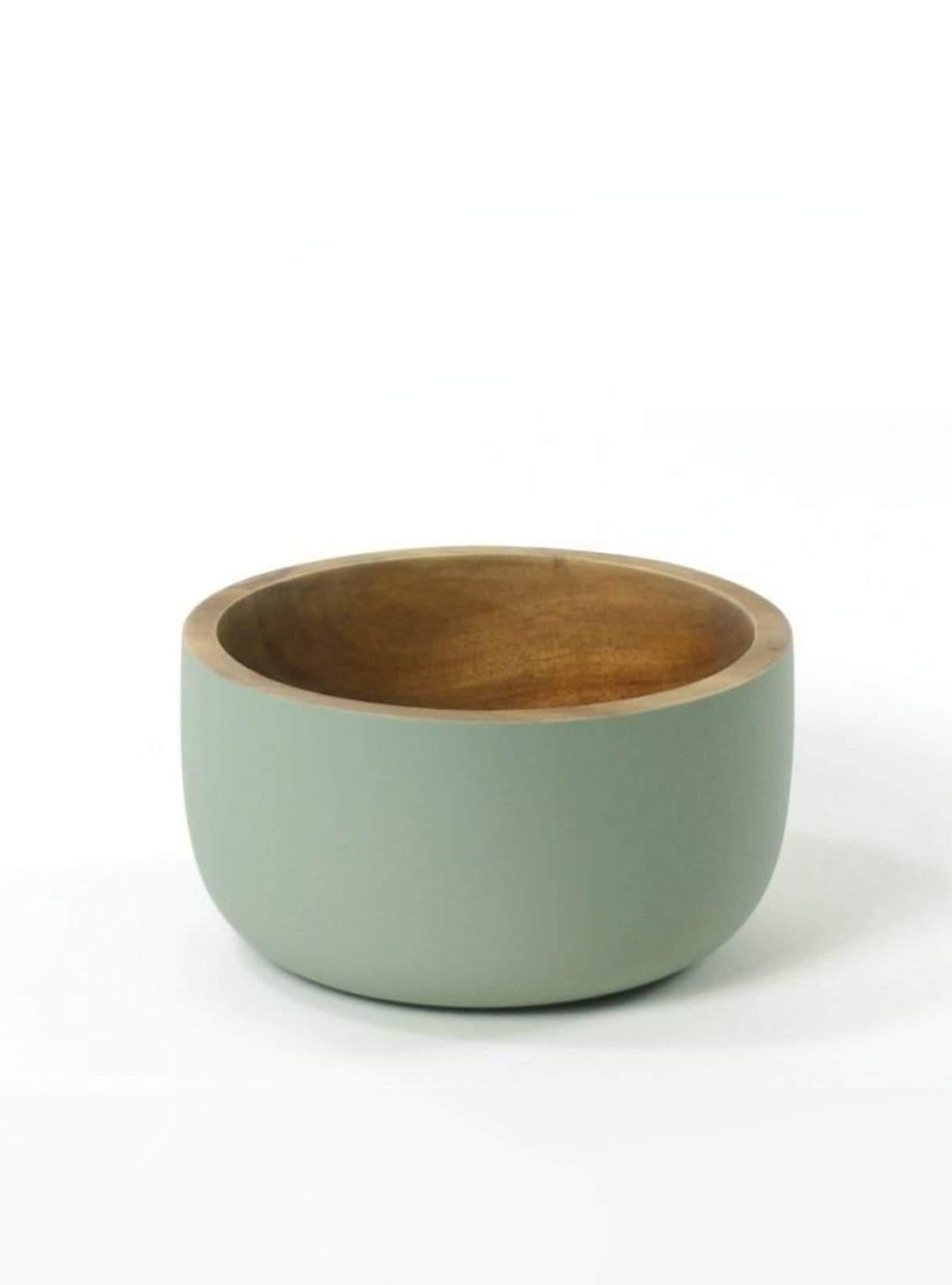 Acacia wood bowl - rustic mint - 16.5cm