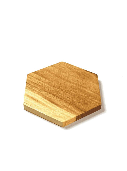 Cutting board hexagon - wood - 25cm
