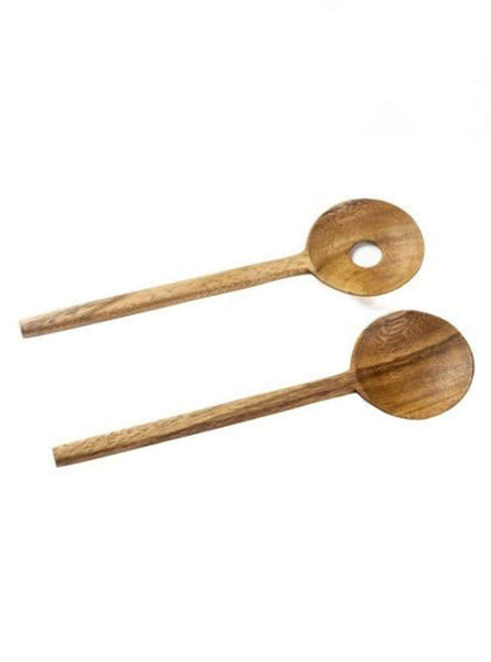 Salad set round acacia wood - zen