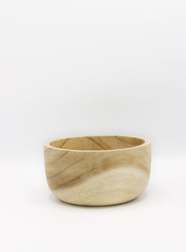 kinta Kitchen Acacia wood bowl - rustic bleached - 16.5cm