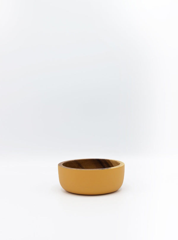 kinta Kitchen Acacia wood bowl - rustic pumpkin - 10x4cm