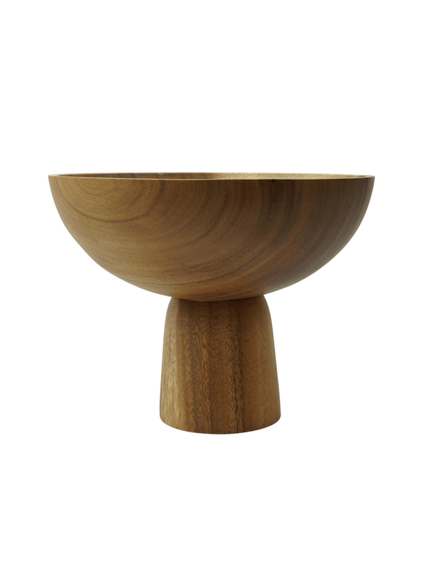 kinta Kitchen Acacia wood - pedestal bowl - 25 x 20 cm