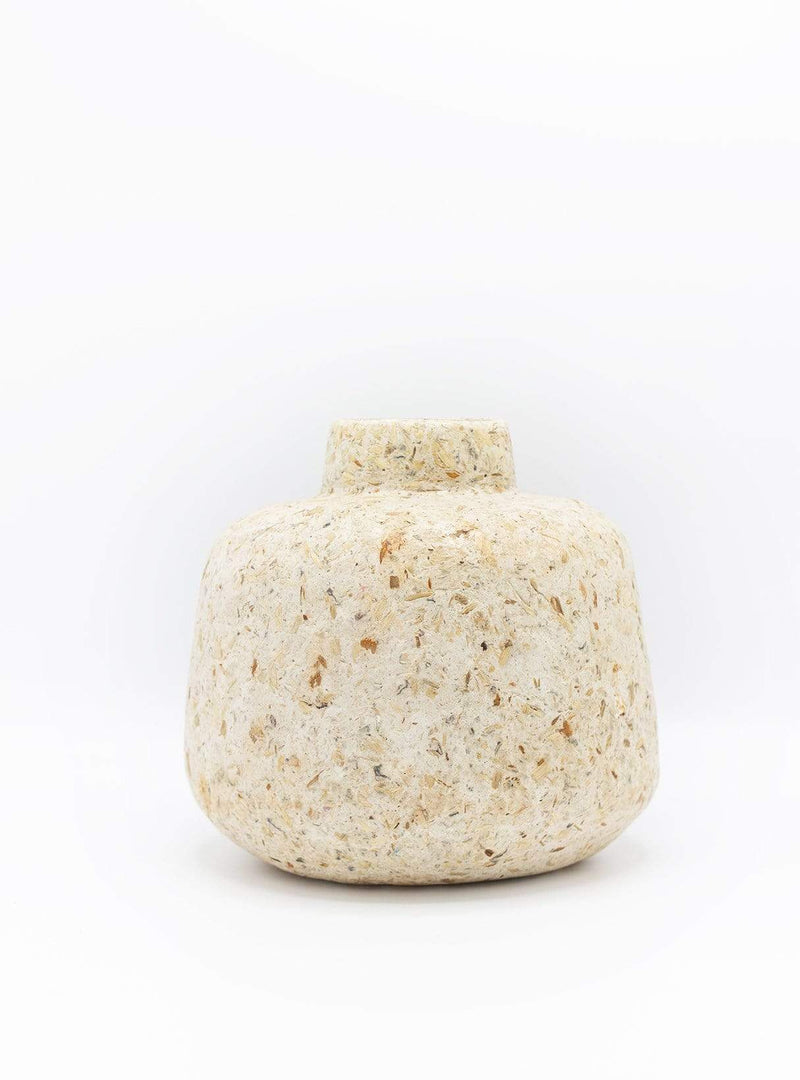 kinta Kitchen Vase wood chips - natural - 16cm