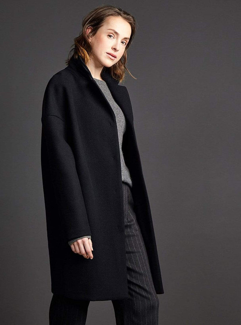 LangerChen jacket Coat taree - midnight black